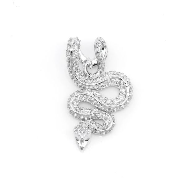 Attacking Snake Pendant 14K   0.63ctw