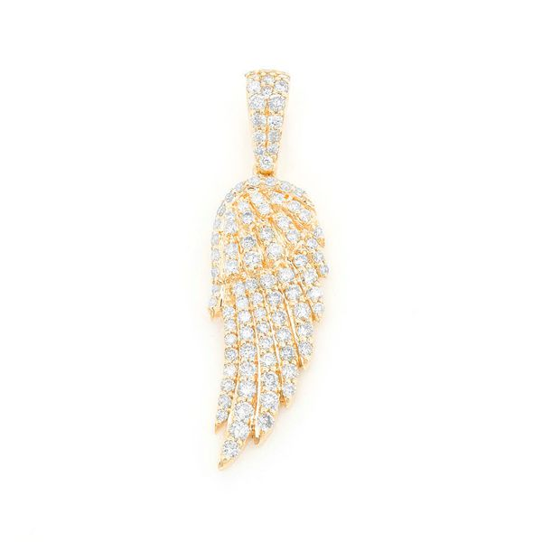 Feather Wing Pendant 14K   0.85ctw