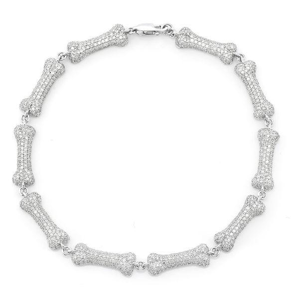 Dog Bone Bracelet 14K   5.50ctw