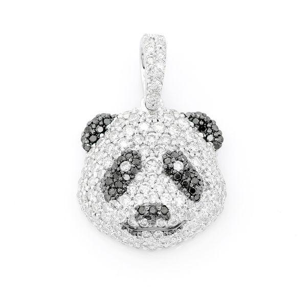 Panda Head Pendant 14K   1.05ctw