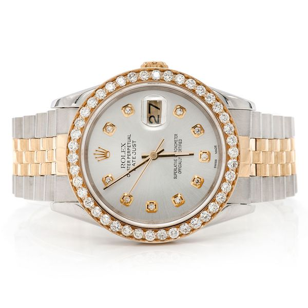 Pre-owned Rolex Datejust 36MM 18K/SS  2.03ctw