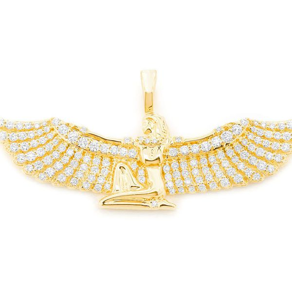 Ma'at Iconic Figure Pendant 14K   1.33ctw