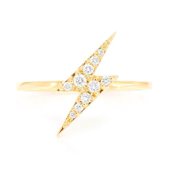 Lightning Bolt Ring 14K   0.14ctw