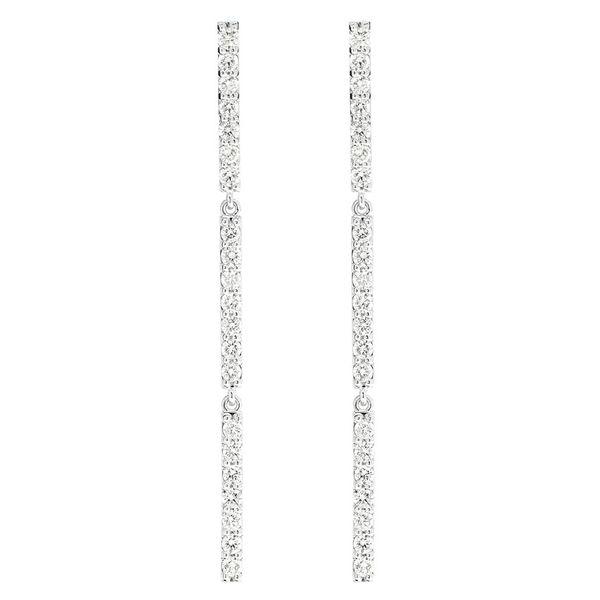 Three Bars Dangling Earrings 14K   1.26ctw