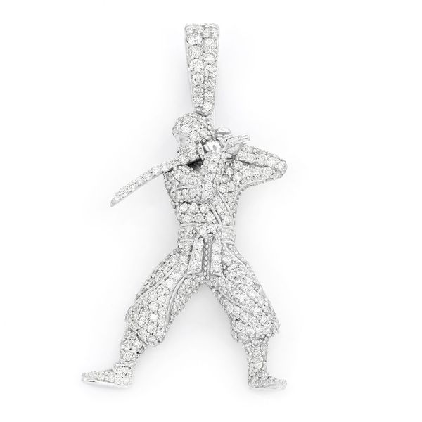 Ninja Full Body Pendant 14K   1.94ctw