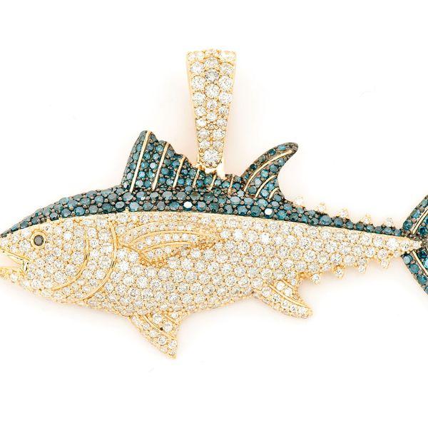 Bluefin Tuna Pendant 14K   4.40ctw