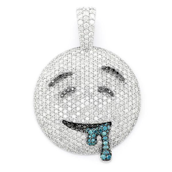Drool Emoji Pendant 14K   4.69ctw