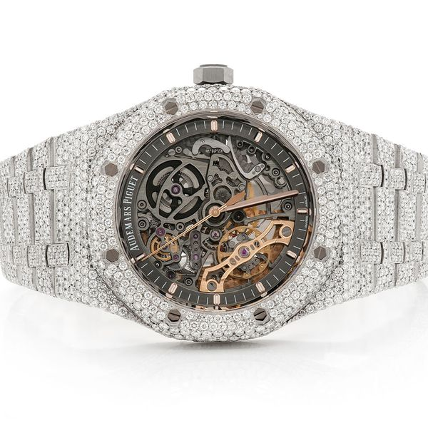 Audemars Piguet Skeleton Stainless  ICED OUT