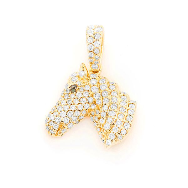Morys Horse Head Small Pendant 14k   0.62ctw