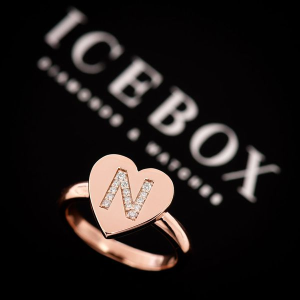 Personalized Heart Ring 14K   0.10ctw