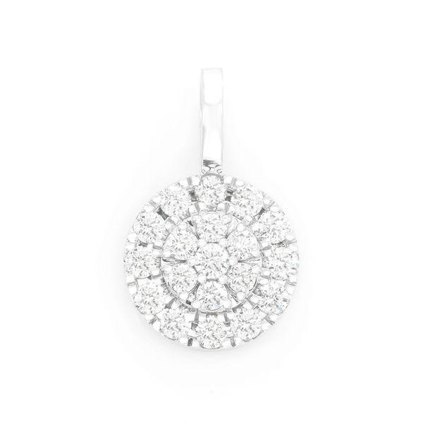 Two Tier Round Diamond Pendant 14K   1.15ctw