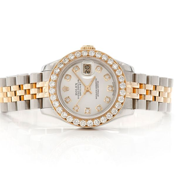 Pre-owned Rolex Datejust 26MM 18K/SS  1.45ctw