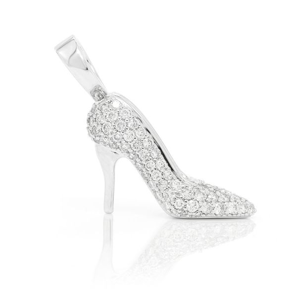 High Heel Shoe Pendant 14K   0.91ctw