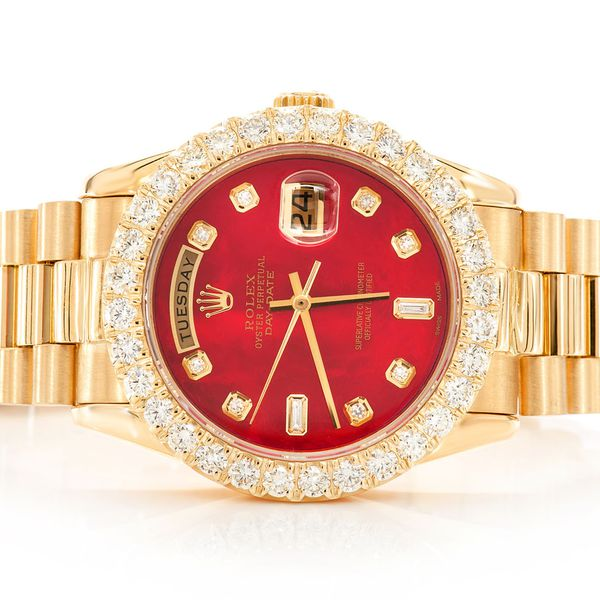 Rolex Day-Date 18K  3.84ctw