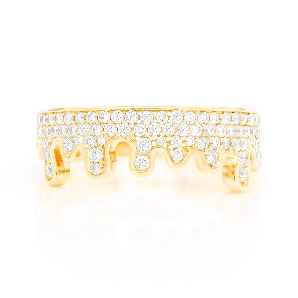 Open Goo Drip Ring 14K   1.05ctw