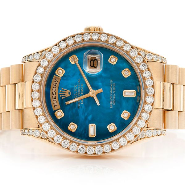 Pre-owned Rolex Presidential DayDate 36mm 18K  3.13ctw