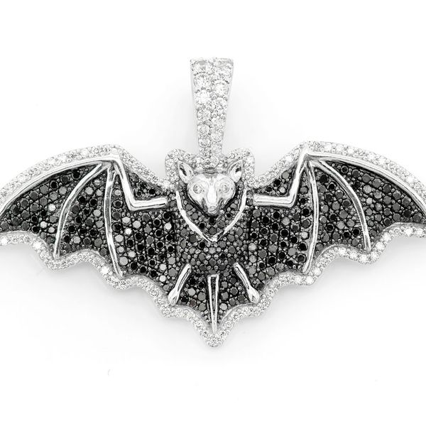 Bat Pendant 14K   1.76ctw