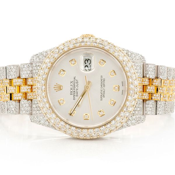Pre-owned Rolex Datejust 36mm 18K/SS  13.64ctw