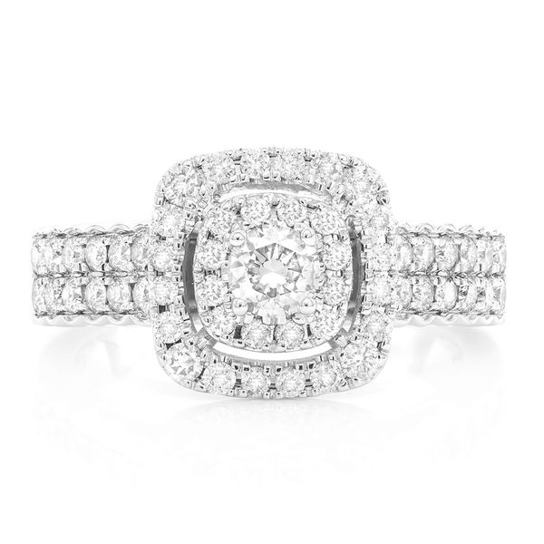 Square Halo Ring 14K   1.06ctw