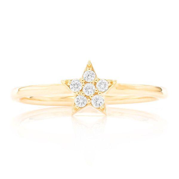 Petite Star Ring 14K   0.09ctw