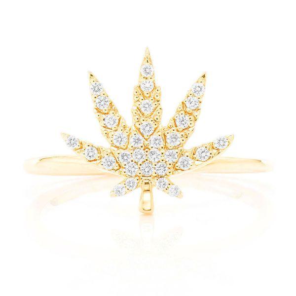 Marijuana Ring 14K   0.14ctw