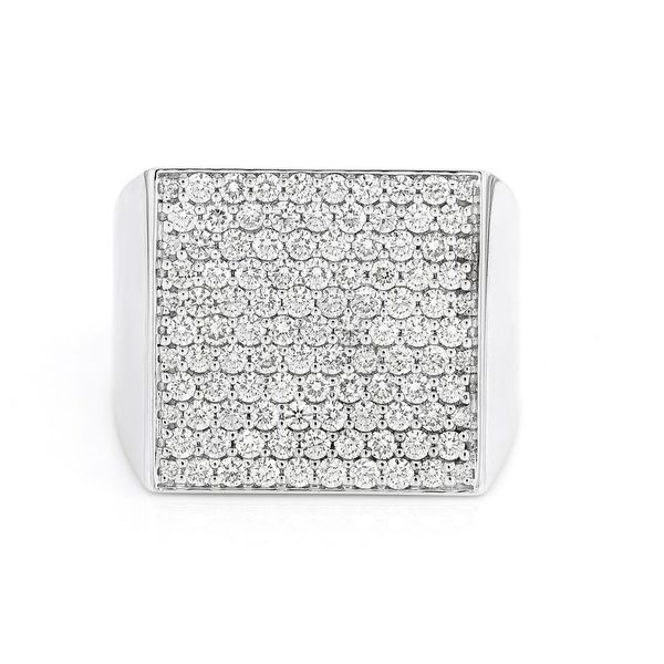 Square Icebox Ring 14K   1.59ctw