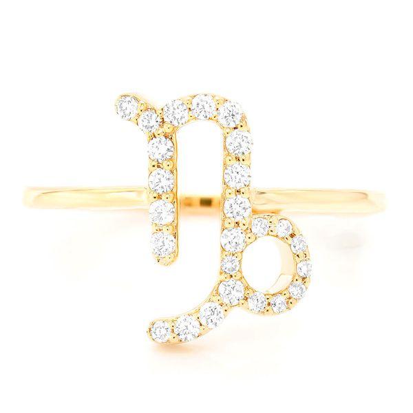Capricorn Zodiac Ring 14K   0.11ctw