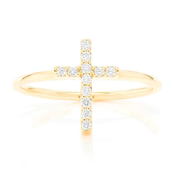 Cross Ring 14K   0.10ctw