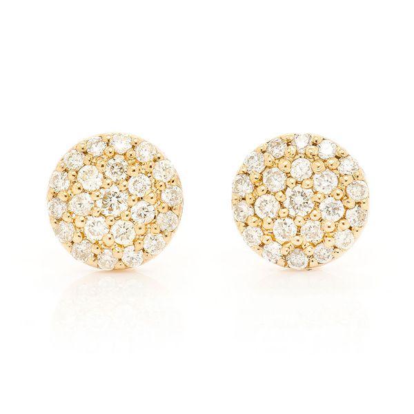 Mini Dot Stud Earrings 14K   0.19ctw