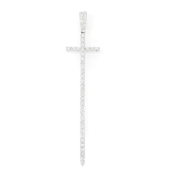 Cari Point Cross Pendant 14K   1.31ctw