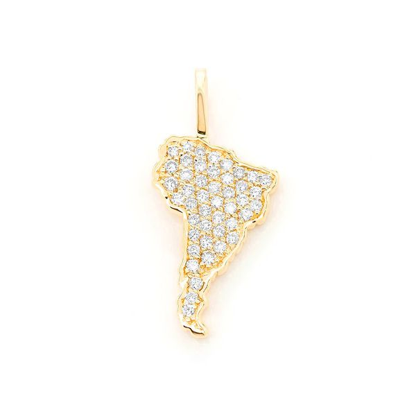 South America Pendant 14K   0.25ctw