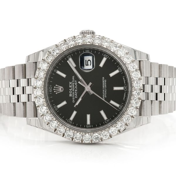 Pre-owned Rolex Datejust 41MM SS  4.89ctw