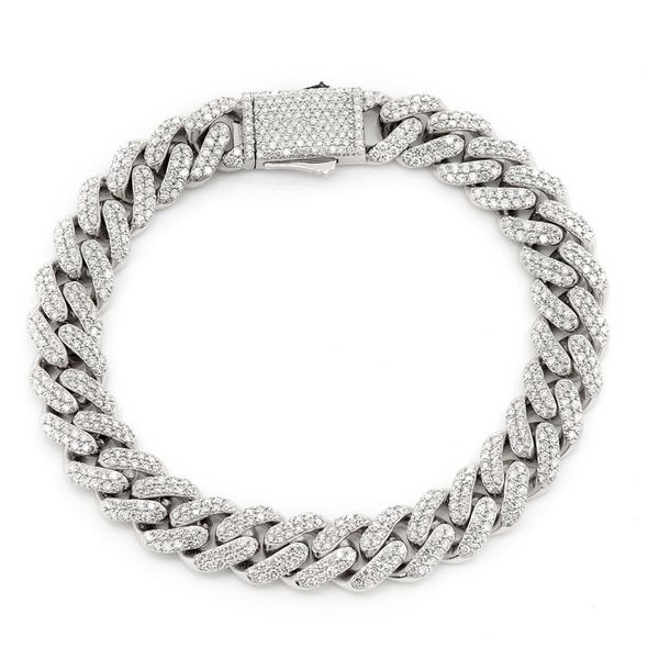Diamond Cuban Bracelet 14K   6.88ctw
