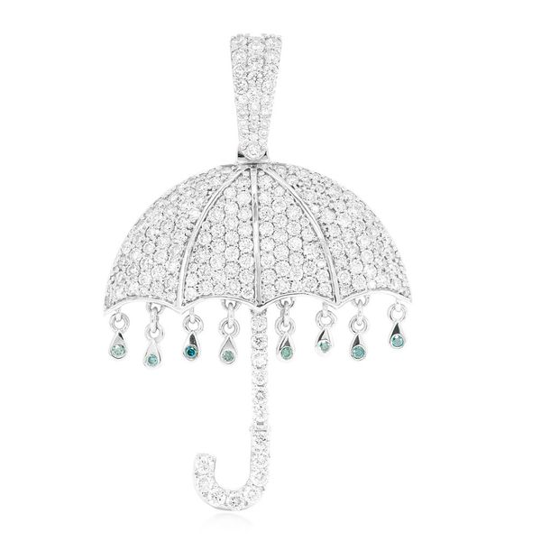 Umbrella Pendant 14K   2.67ctw