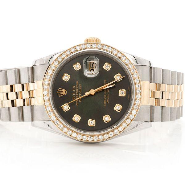 Rolex Datejust 1.00ctw 18K/SS
