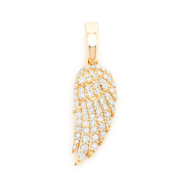 Feather Wing Pendant 14K   0.46ctw