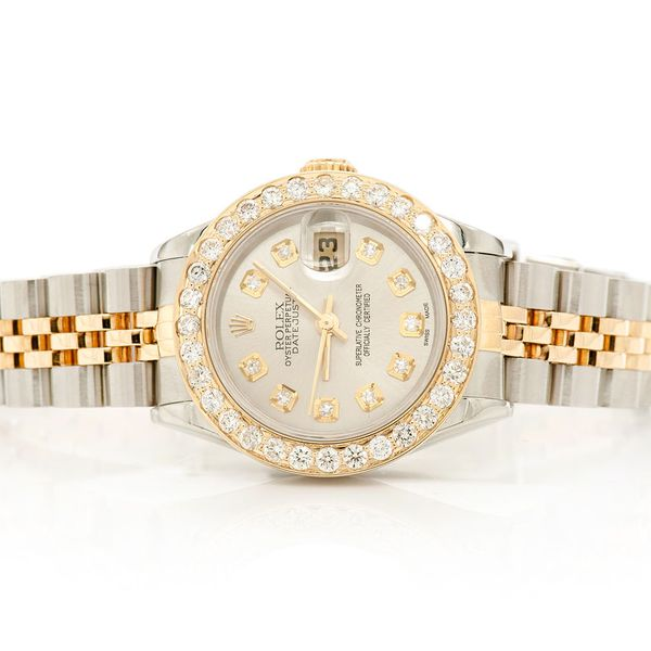 Pre-owned Rolex Datejust 26mm 18K/SS  1.29ctw