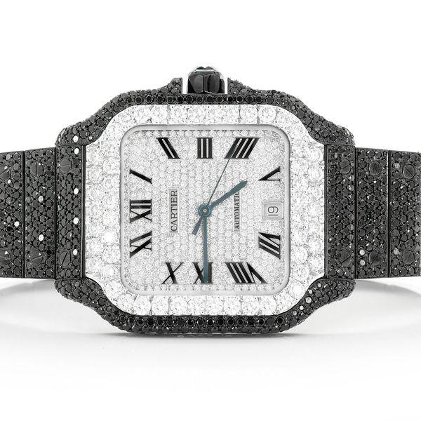 Cartier Santos Black PVD  21.00ctw