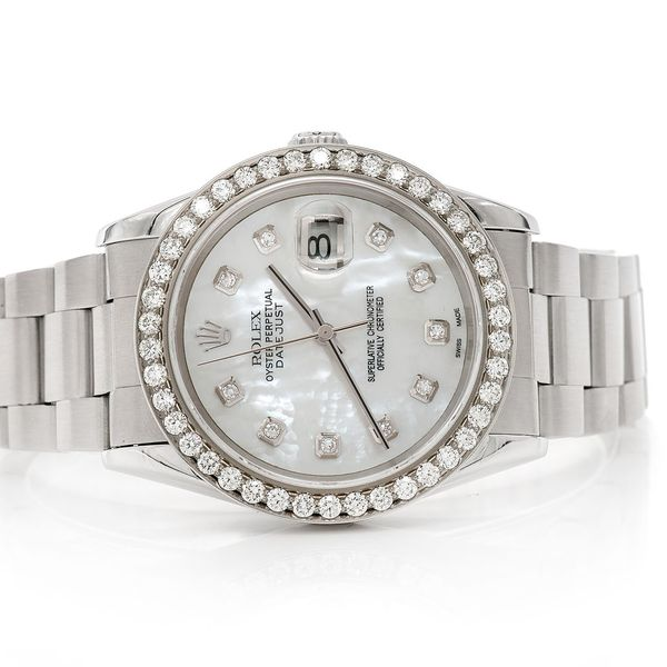 Pre-owned Rolex Datejust 36MM SS  2.04ctw