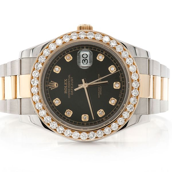 Pre-owned Rolex Datejust 2 41MM 18K/SS  3.20ctw