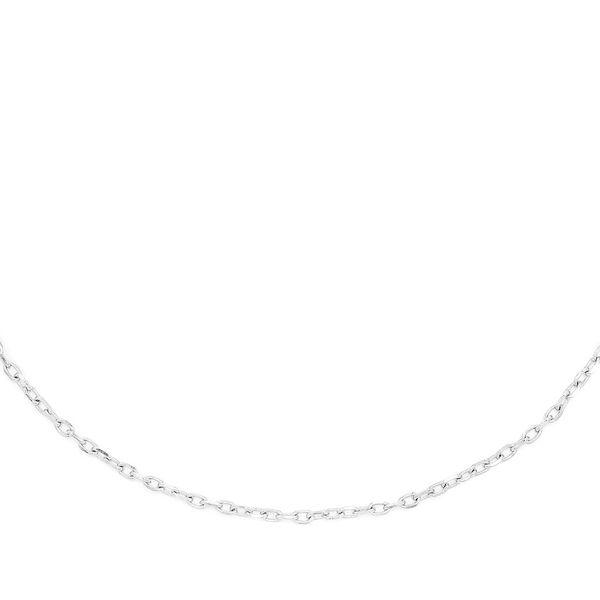 Round Bezel Set Link Necklace 14K   0.32ctw