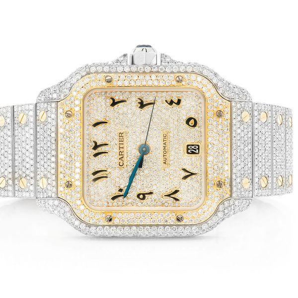 Cartier Yellow Face Watch 18K/SS  21.50ctw