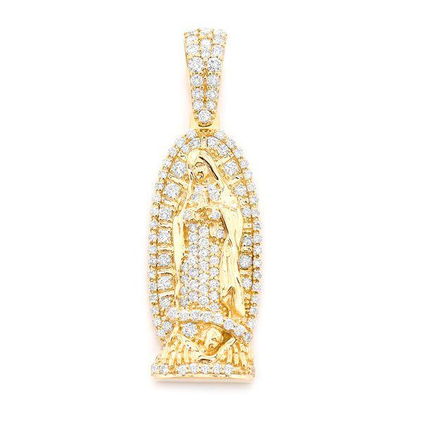 Virgin De Guadalupe Small Pendant 14K   0.69ctw