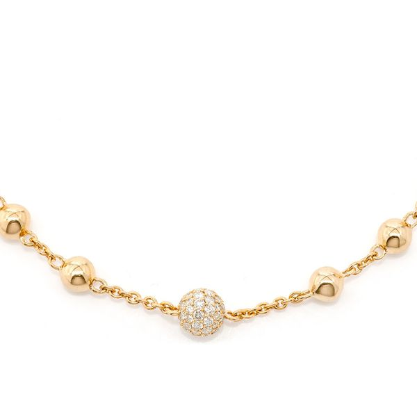 Rosary Bead Necklace 14K   2.87ctw