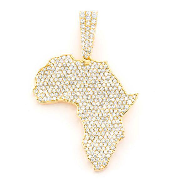 Africa Pendant 14K   6.98ctw