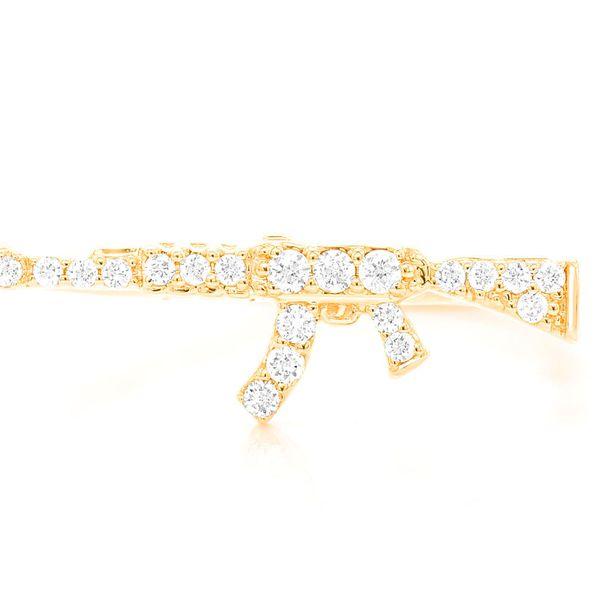 Mini AK47 Ring 14K   0.10ctw