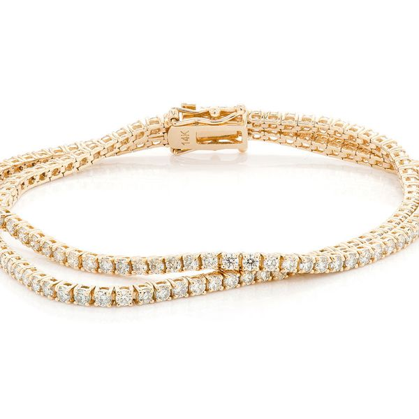 Diamond Bracelet 14K   4.80ctw