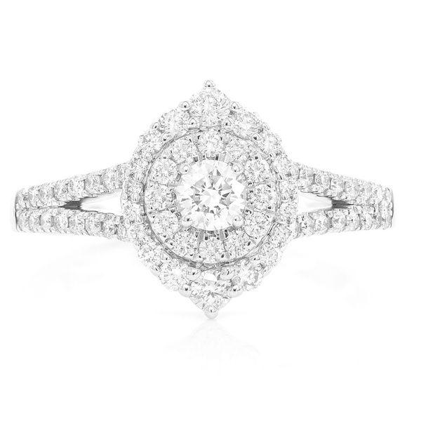 Three Layer Marquise Ring 14K   0.75ctw