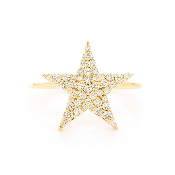 5 Point Star Ring 14K   0.35ctw