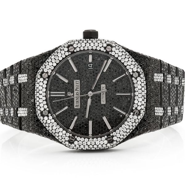 Audemars Piguet Black & White Diamonds Stainless   ICED OUT